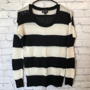 Banana Republic black and white striped sweater